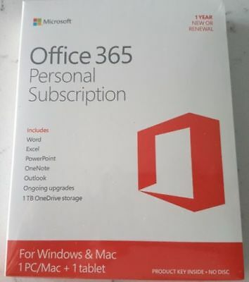 Microsoft Office 365 Personal (Subscription for 1 PC / Mac + Tablet Card)