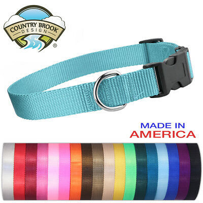 Country Brook Design® Economy Nylon Dog Collars-Various sizes & colors available
