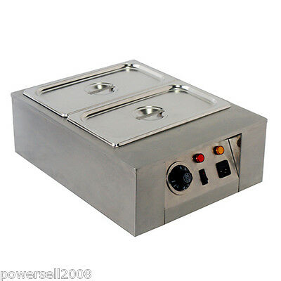 New 2 Lattice Chocolate Melting Pot Commercial Chocolate Melter Baking Machine