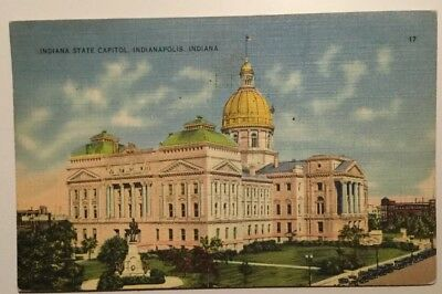 Vintage Postcard - Indiana State Capitol, INDIANAPOLIS, USA