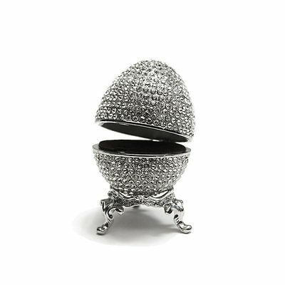 Faberge Egg Swarovski Crystals Christmas Gift Authentic Jewelry Ring Holder Box