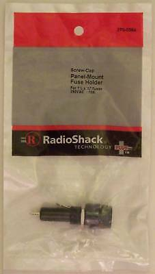 "RadioShack Screw-Cap Panel Mount Glass Fuse Holder 10A 250VAC fits 1-1/4"" x 1/4"""