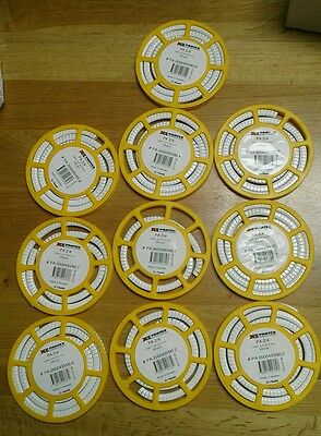 Partex cable marker, black on white cable Marker. 10x discs of 250 some used