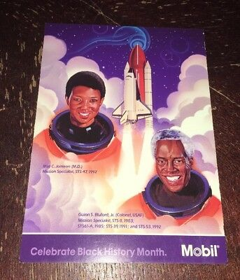 Mobil Oil Corp. Celebrate Black History Month Ad Card 1998 Space Exploration