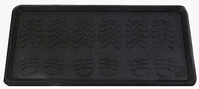 Multi-Purpose Large Rubber Tray Heavy Duty Home Utility, Plants, Pets Tray Black
