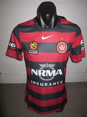 Western Sydney Wanderers Player Issue Nike Shirt Jersey Football Soccer Small
