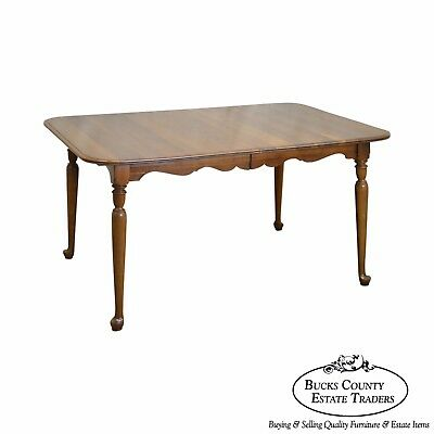 Ethan Allen Sheffield Solid Cherry Traditional Expandable Dining Table