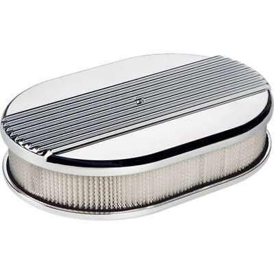 Billet Specialties 15630 AIR Cleaner SM OVAL RIBBCED Polished