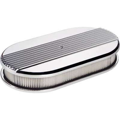 Billet Specialties 15640 AIR Cleaner Long OVAL RIBBCED Polished