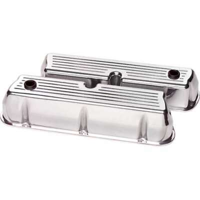 Billet Specialties 95320 Valve Cover Ford SBC TAll BALLED milled Polished