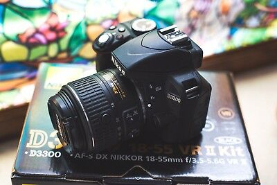 Nikon D D3300 24.2MP Digital SLR Camera - Black (Kit w/ AF-S DX VR II 18-55mm...