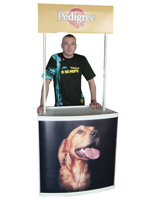 Trade Show Promo Portable Counter Sampling Table Display Kiosk + CUSTOM PRINT