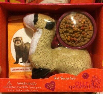 "BRAND NEW Our Generation Pet Sets For 18"" American Girl - FERRET-"