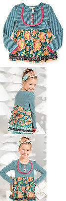 Matilda Jane Gallant Ruffle Back Tunic Once Upon A TIme Size 2 NWT Fall Floral