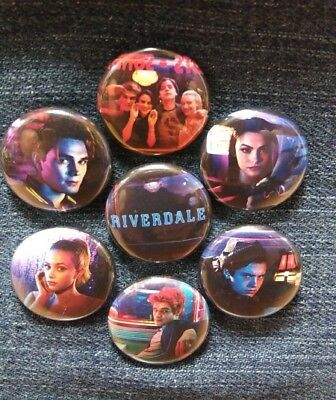 """1"""" pinback button set inspired  by """"Riverdale"""""""