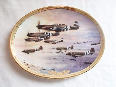 The Bradford Exchange The Airborne Assault D-Day WW2 Military Plate 377A