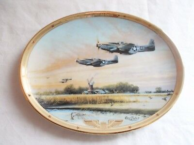 The Bradford Exchange Home at Dusk WW2 Military Plate 1164A