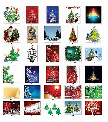 30 Personalized Return Address Labels Christmas Trees Buy 3 get 1 free (C10)