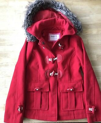 Girls Red Duffle Coat, age 7-8
