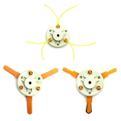 3 In 1 Strimmer Head Metal Plastic Serrated Blade Nylon Rope Multitool Bump Feed