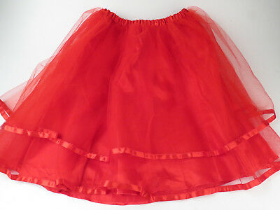 Hanna Andersson Red Satin Tulle Dress Skirt Christmas Holidays 160