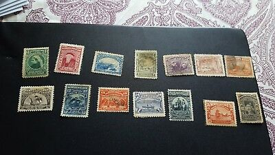 newfoundland stamps scv 325.00  cpl set mint hinged /used  p1135