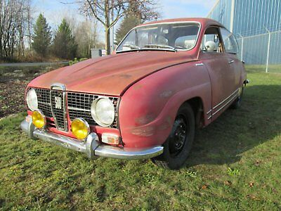 1968 Saab Other Deluxe original patina red, 2 owner, no accidents, no damage, Southern California car.