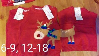 Girls christmas jumper mamas & papas NEW with tags sizes available
