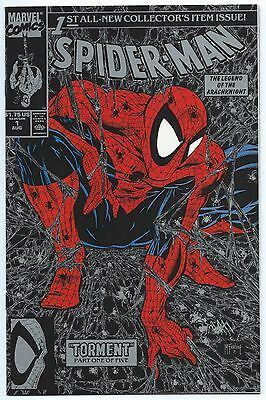 SPIDER-MAN #1 Aug 1990 SILVER Edition NM/MT 9.8 Todd McFARLANE Story Cover & Art