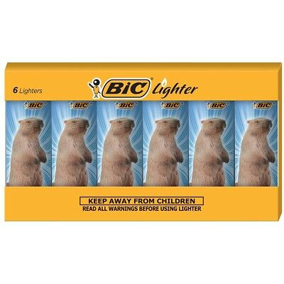 BIC Special Edition Beaver Series Lighters, Set of 6 Lighters