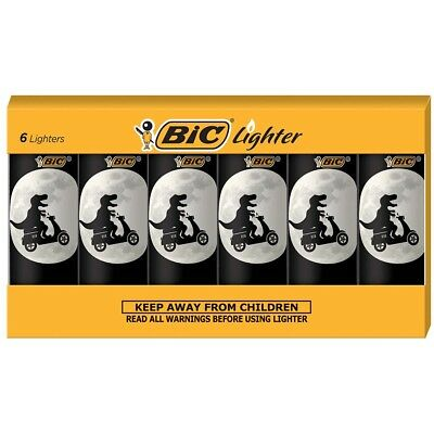 BIC Special Edition Dinosaur Series Lighters, Set of 6 Lighters