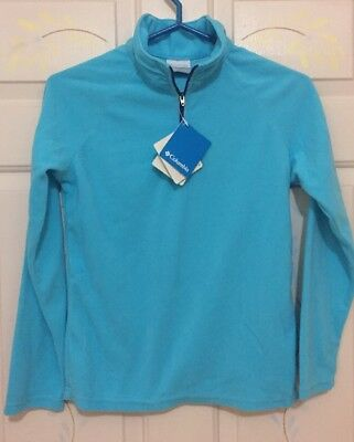 Columbia Blue Glacial Fleece Half Zip Youth Size Large L New With Tags!