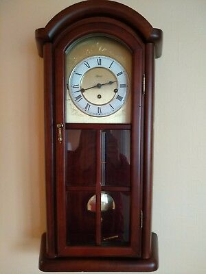 Chime Wall Clock Franz Hermle 341-020A Germany Pendulum Antique Vintage Wind UP