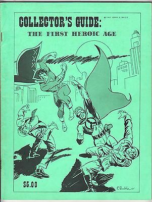 Collector's Guide: The First Heroic Age JERRY BAILS GOLDEN AGE COMICS, Fine 1969