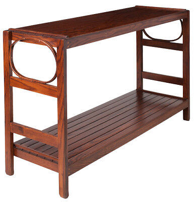 Rustic Sofa Table - Oak in Michael's Cherry Stain - Amish Made in the USA