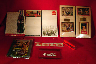 Mixed Lot of Coca-Cola collectibles - Note Pads, Phone List, Stapler  Inv.O269FS