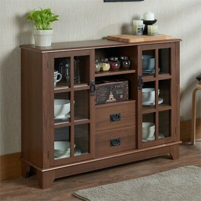 Sideboard Buffet Cabinet Liquor Storage Home Mini Bar Table Drawers New