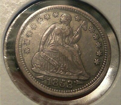 1853 Seated Liberty Half Dime _                   *very old coin*