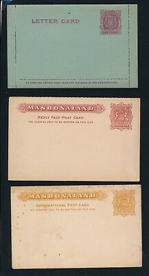 British South Africa Company. 3 old stationeries