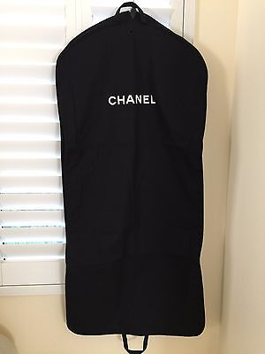 CHANEL Garment BAG CANVAS Travel Black for Dress Gown Pants Suits Authentic NEW