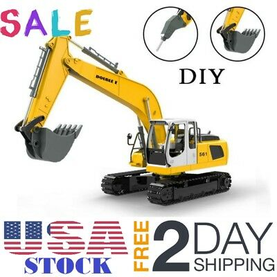 RC Excavator Tractor Toy Construction Vehicles 17 Channel Truck Shovel Xmas Gift