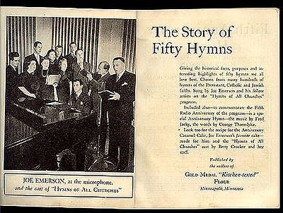 1939 General Mills Story of 50 Hymns: Protestant, Catholic, Jewish Faiths