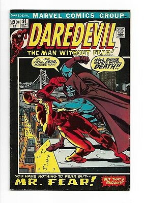 Daredevil # 91  You Have Nothing to fear but Mr. Fear ! 6.5 scarce Marvel Comics