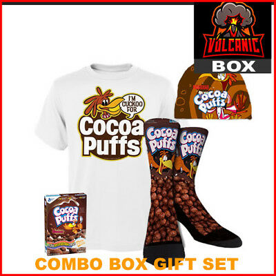 Cocoa Puffs Gift Box Set Includes Socks Shirt Hat Cereal Comes In S M L XL XXL