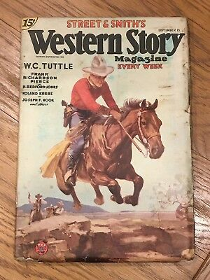 Western Story Magazine - September 15th 1934 - US Pulp