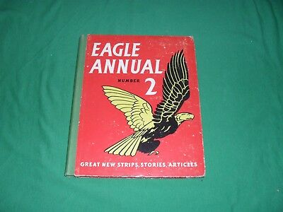 Vintage 'EAGLE ANNUAL no.2' Hardback Book inc. DAN DARE