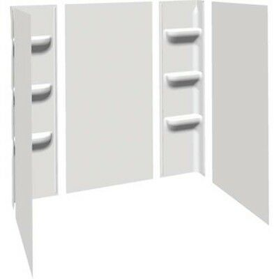 Seasons Anchor Point Heavy-Duty Shower Wall Five-Piece Glue-Up White Acrylic