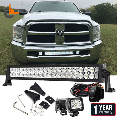 """20"""" inch 120W LED Work Light Bar Spot Flood Combo Offroad Fog SUV 4WD Truck Ford"""