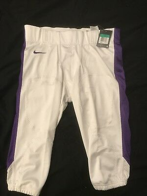 NWT Mens Nike White And Purple Football Pants Size XL $70.00 Retail