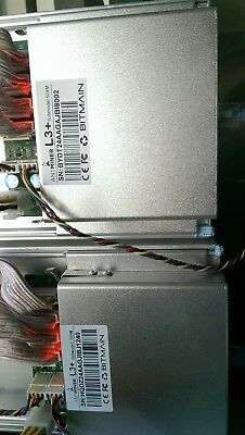 USED - 2x Antminer L3+ and APW3++ PSU